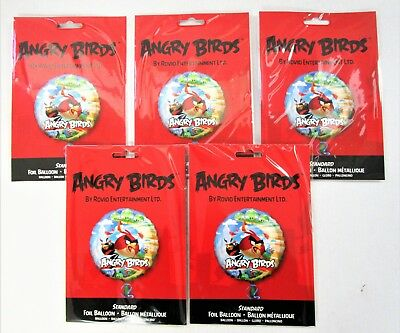 "Pack of 50 Angry Birds 17"" Helium Foil Balloon - Kids Party Balloons"