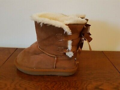 Girls Short Brown UGG Boots - UK Size 1 (EU 33)  - Free Delivery.