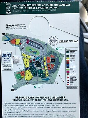 Orange Parking Pass And 1 Miami Dolphins @ NY Jets Tickets $90. Make Offer
