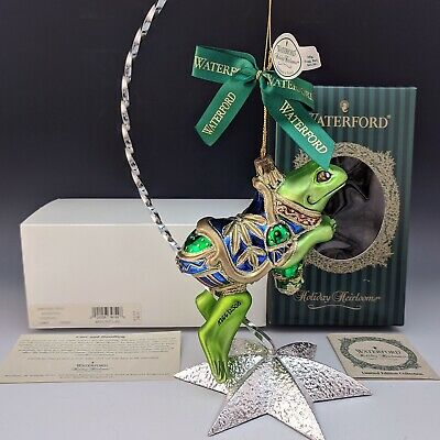 Waterford Crystal Holiday Heirlooms CAROUSEL FROG WS Private Ornament 4th Ed