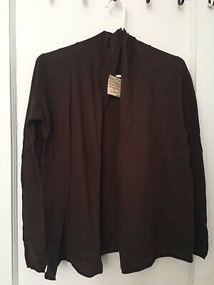 Muji Lady Cardigan. Size S , Color Brown