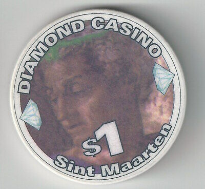 $1 Sint Maarten Diamond Casino Chip Island Chipco Mold Poker