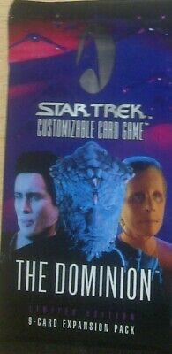 Star Trek CCG Dominion Booster Pack, new & sealed OVP