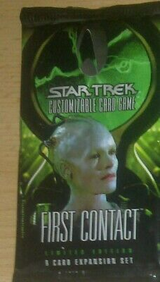 Star Trek CCG First Contact Booster Pack, new & sealed OVP