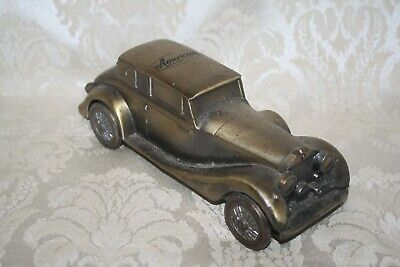 1970's BANTHRICO 1937 ROLLS ROYCE Brass Color Cast Metal Bank USA ~ 1 Pound