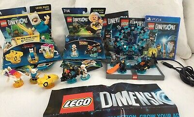 LEGO Dimensions PS4 STARTER PACK BUNDLE + Fun Packs 71230 & 71245 Back to Future