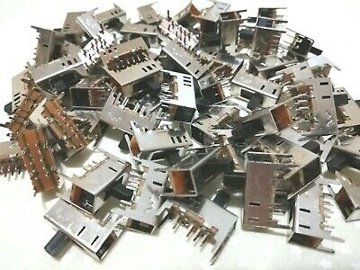 (60) Uxcell 3 Position On-On-On Vertical Slide Switch 8 Pin Panel Mount