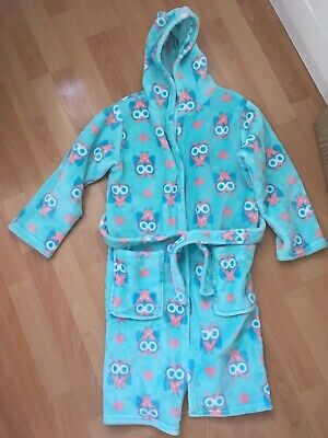 Girls Mint Green Owl Dressing Gown Age 9-10yrs