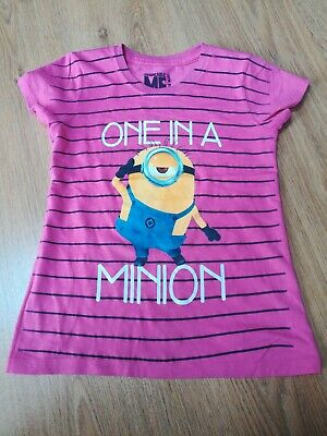 Despicable Me Girls Minion Tshirt Top Size Small Approx Age 9