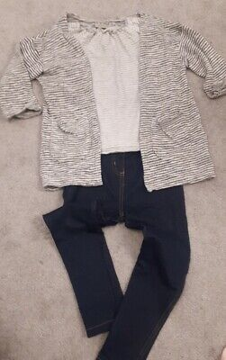 girls next outfit age 3-4 jeggings top cardigan