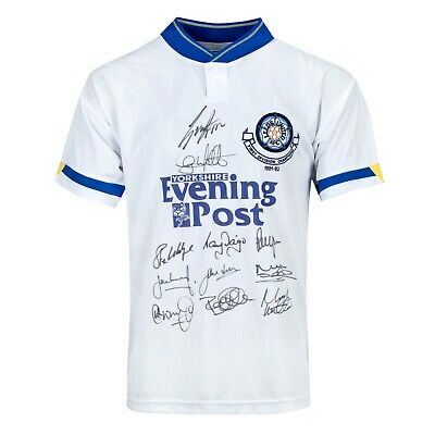 Leeds United Signed 1992 1st Division Champions Home Shirt Leeds Autograph