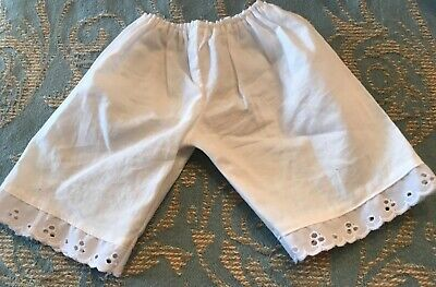 Authentic American Girl Doll Clothes HISTORICAL WHITE BLOOMERS WITH EYELET TRIM