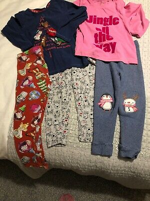 Girls Christmas Top and Leggings Outfit Bundle. Age 4-5 Next. 5 Items.