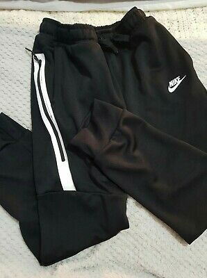 Boys Nike Dri-fit Black Joggers Tracksuit Trousers Size XL Age 13-15 Years