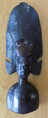 Vintage Carved African Tribal Statue Figurine Head Collectable Home Decor