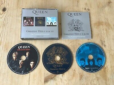 Queen Greatest Hits 1, 2 & 3 The Platinum Collection 3-Disc CD ALBUM SET