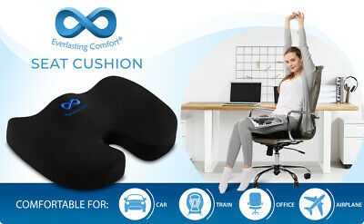 Everlasting Comfort Memory Foam Seat Cushion Designed for Hip and Tailbone Pain