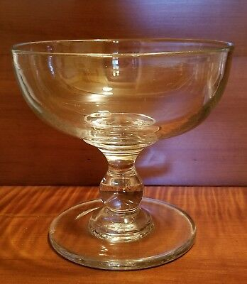 19th Century Clear Blown Flint Glass Compote possibly Pittsburgh or Wheeling