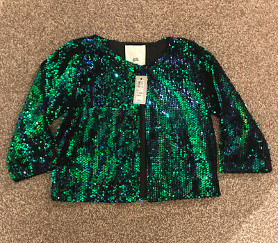 BNWT Girls River Island Sequin Party Jacket Age 11-12 Years