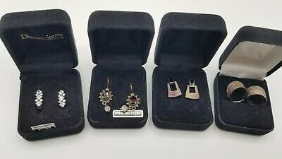 Vintage Sterling Silver Earrings 4 Pairs All Marked 925