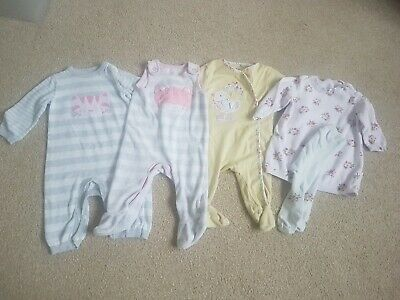 Mothercare, Bluezoo Baby Girls Clothing Bundle 3-6 Months Jumper Dress, Romper,