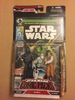 Star Wars Figures Darth Vader And Rebel Officer - Comic Book #1 - MNIB
