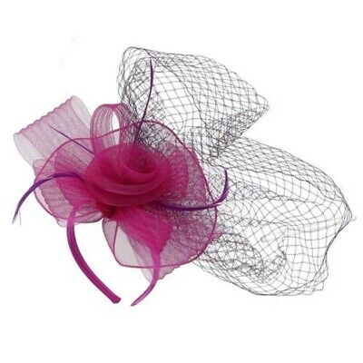 New Something Special Women's Mesh Netting Fascinator with Flower Deco