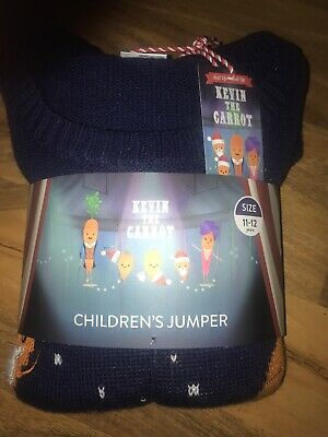 BNWT Kevin The Carrot Children's Christmas Jumper Size 11-12 Years
