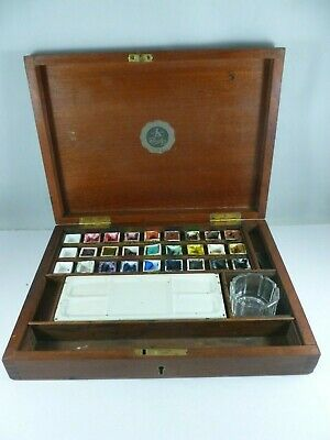 ANTIQUE Reeves and Sons Limited Artists Watercolour Paint Box Set
