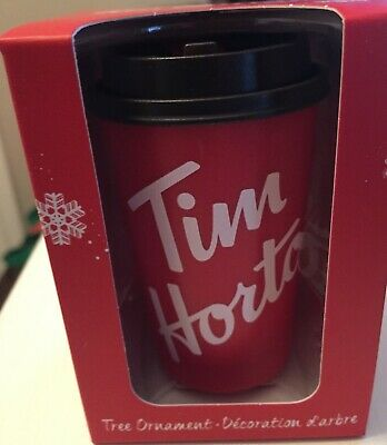 Tim Hortons 2019 Miniature Take Out Cup Holiday Ornament  Mint In Box