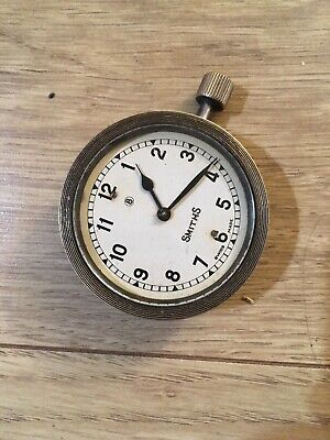 VINTAGE SMITHS  8 DAYS CAR Or MOTORCYCLE DASHBOARD CLOCK 2 inch