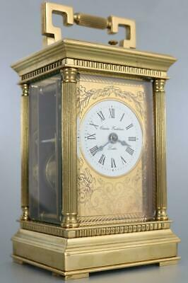 LARGE ENGLISH CARRIAGE CLOCK CHARLES FRODSHAM LONDON vintage 8 day BELL REPEATER