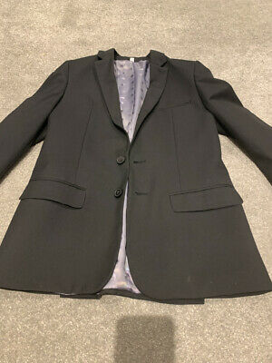 m&s boys Black suit jacket  age 11-12 years Very Good Condition