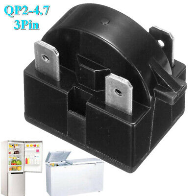 Refrigerator Start Relay for QP-2-4.7 4.7 Ohm 3 Pin Vissani Danby Compresso@