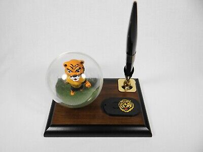 College Football LSU Mascot Desk Top Wooden Pen Holder Set
