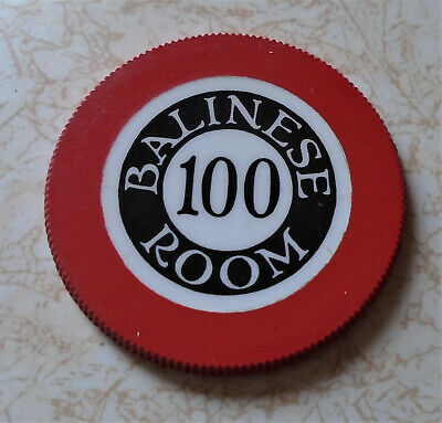 Obsolete, Early Balinese Room, Texas $100.00 Casino Chip, B