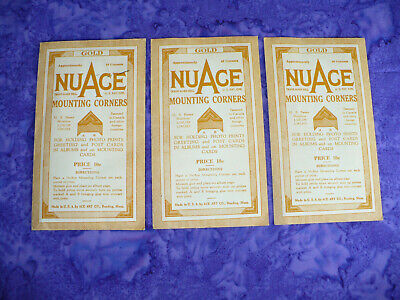 [3] Vintage NUACE Photograph GOLD Mounting Corners / 2-Packs Unopened ,1 OPENED