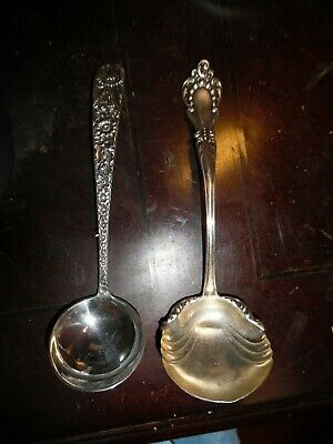 """(2) S. Kirk & Son Sterling Silver 7"""" Sauce In Repousse & Hallmarked"""