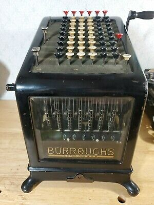Burroughs No 6 Adding Machine-great for CPA, bank, any business display