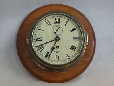 Smiths Empire Nautical Marine Mariner's Ship's Brass Clock