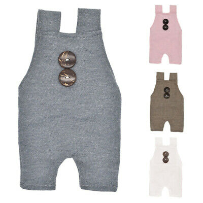 Newborn Infant Baby Girl Boy Knitted Romper Bodysuit Jumpsuit Outfit Clothes