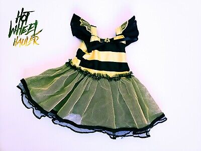 18 Inch Doll Outfit Bumblebee Dress Costume Black Yellow Fits American Girl