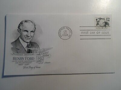 Usa American Industrialist Henry Ford 1968 Greenfield Village Mi Cancel Fdc