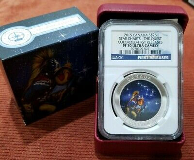 2015 Canada Silver Star Charts The Quest - Ngc Pf70 First Releases - New Series