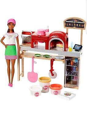 BARBIE Cooking & Baking Pizza Making Chef Doll & Playset~Brunette
