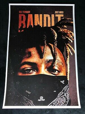JUICE WRLD 12x18 BANDIT POSTER RAPPER DEATH RACE FOR LOVE NBA YOUNGBOY