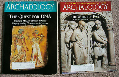 A Year of Archaeology Magazine – Seven Issues – 1996 & 1997