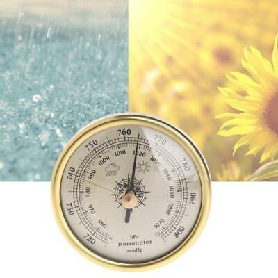 72mm Wall Hanging Barometer 1070hPa Gold Color Round Dial Air Weather Station s