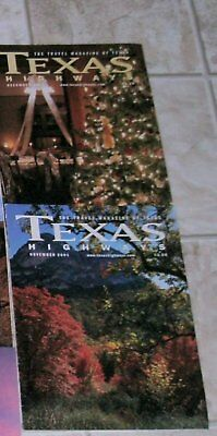 12 Texas Highways Travel Magazines – 10 From 2001 & 2 From 2004