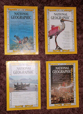 Four 1962 National Geographic Magazines